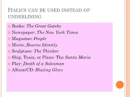 Book Titles In Quotes Fascinating Essay Underlining Titles Coursework Academic Writing Service