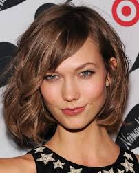 Square Face Bangs Hairstyle Shoulder Length Layered Haircut For Thick Hair With Square Face