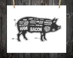 Pig Butcher Chart Art