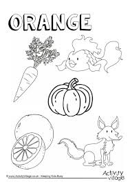 Small Picture Orange Things Colouring Page