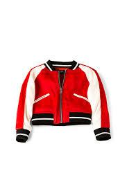 Bardot Jackets Online Bardot Junior Embroidered Bomber Red
