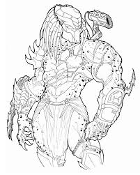 Small Picture Alien Vs Predator Coloring Pages 10 And esonme