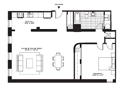 Small Apartment Floor Plans One Bedroom D One Bedroom Apartment Floor Plans Gucobacom