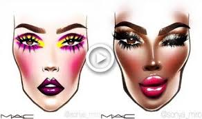 Amazing Mac Face Chart Tutorials Makeup Makeup Videos