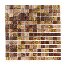 verona 12 in x 12 in x 4 mm glass mosaic wall tile
