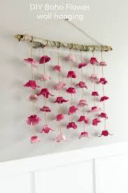 diy boho flower wall hanging craft idea to make all you need is