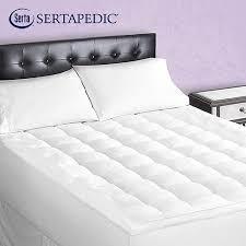 pillow top mattress topper. sertapedic superior loft down alternative mattress pad pillow top topper o