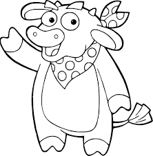 Coloriage Vache Dora L Exploratrice Imprimer