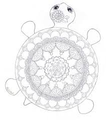 Small Picture Mandala Turtle Coloring Page FaveCraftscom