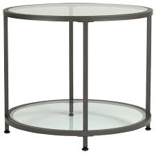 entranching glass end tables of designs 30 table round silver black