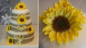 Sunflowers Cake And How To Do Fondant Sunflower Flowers Cake Youtube