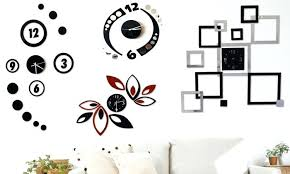 modern art wall clocks modern clock wall art goods clever 0 modern art decor wall clock