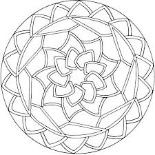Printable Flower Mandala Coloring Pages Printable Mandalas For Kids