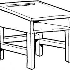 desk clipart black and white. best old school desk clipart graphic black and white