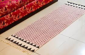 rugs uk reversible block print cotton dhurrie runner dr22