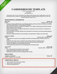 Teacher Skills For Resume Impressive Additional Skills For Resume Templates Cashier Section Example