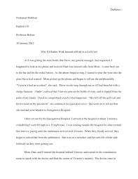 memoir essay memoir essay dumont 1nathanael dumontenglish 101professor bolton30 2012 why i d rather