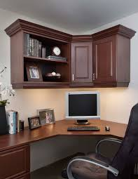 office in the home. Mahogany-Office-in-Raised-Panel-with-Crown-Moulding- Office In The Home