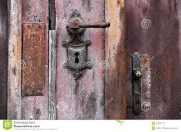 old door handle and lock