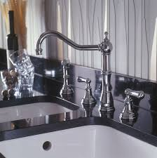 Perrin And Rowe Kitchen Faucet Alsace Four Hole Sink Mixer With Lever Handles And Rinse Perrin