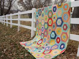 Scrappy Giant Hexagon quilt - Diary of a Quilter - a quilt blog & Scrappy Giant Hexagon quilt Adamdwight.com