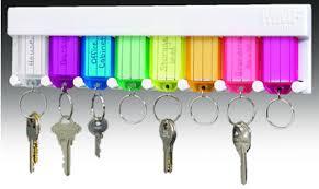 multi-colored key rack