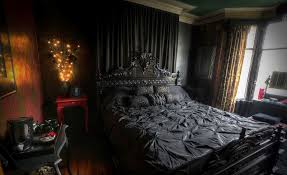black bedroom. Creating A Gothic Haven In Your Bedroom Black R