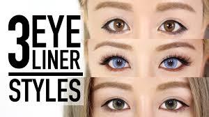 3 eyeliner styles makeup tutorial tips wengie