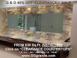 we also have a special clearance countertop page where you can see what our latest clearance items are at rock bottom s including installation