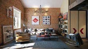 Stylish Industrial Inspired Loft Interiors - Loft apartment brick