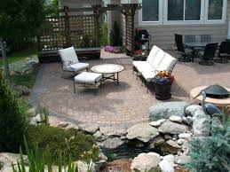 patio designs with pavers. Paver Backyard Patio With Rocks And Designs Pictures . Popular Of Ideas Pavers