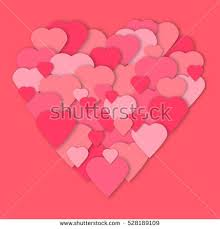 3d paper hearts collage vector card stock vector 561367912 Wedding Anniversary Banners Design bright pink paper hearts vector background vector hearts collage in heart form wedding, 50th wedding anniversary banner designs