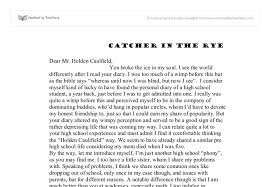 answer the question being asked about the catcher in the rye essay essay about catcher and the rye 1311 words studymode