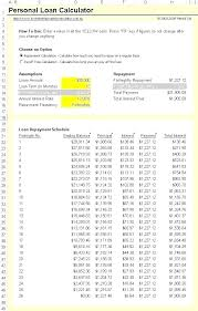 Loan Amortization Table T Daily Schedule Chart Excel Tables