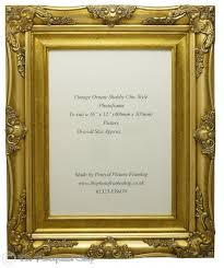 4 wide antique gold baroque shabby chic ornate vintage picture frame for a 16