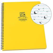 rite in the rain weatherproof side spiral notebook 8 1 2 x
