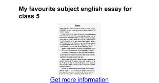 my favourite subject english essay for class google docs