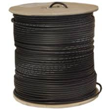 1000ft black bulk rg6 coaxial cable 18awg spool 1000 bulk rg6 coaxial cable black 18 awg solid core spool 1000