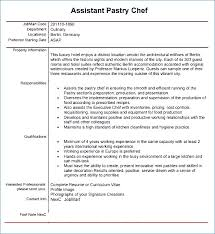 43 Pastry Chef Resume Samples Resume Layout Com