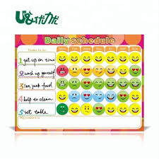 Behavior Smiley Chart Magnetic Reward Behavior Chart For Children Buy Kids Daily Reward Chore Chart Writing Chart Product On Alibaba Com