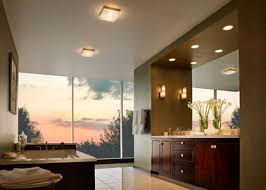 to fill your entire bathroom with diffuse general light a ceiling light like the boxie or the mint round or mint square will do the trick best bathroom lighting