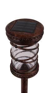 Amazoncom  Malibu Solar LED Firefly Glass Lantern Jar Landscape Malibu Solar Powered Landscape Lighting