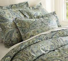 bella paisley duvet cover sham blue