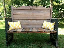Headboard To Bench Upcycled Headboard Garden Bench Omero Home
