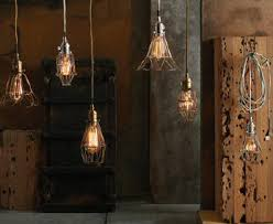 Industrial chic lighting Office Industrial Chic Metal Vintage Cage Lamps Come In Variety Of Styles And Sizes Zest It Up Ferndale Emporium Lamps And Night Lights