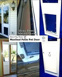 patio doors with pet door guys in glass best the insert features dual heavy duty aluminum
