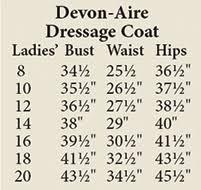 Ladies Devon Aire Dressage Coat