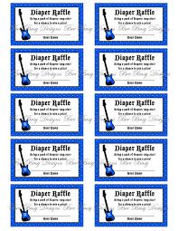printable blue rock and roll guitar diaper raffle tickets bee printable blue rock and roll guitar diaper raffle tickets bee busy designs