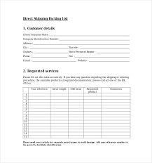 packing list sample form packing list format korest jovenesambientecas co