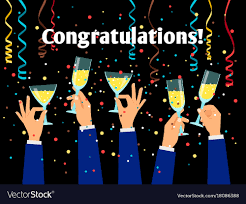 Congratulations Poster Hands Holding Glasses Congratulations Poster